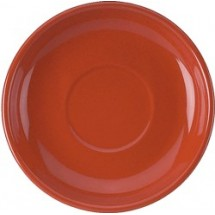 "ITI 822-407S 6-1/8"" Cancun Latte Saucer, Tomato Red - 2 doz"