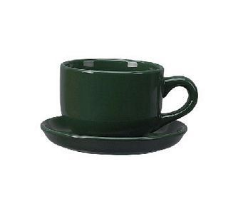 ITI 822-67 16 oz. Green Vitrified Latte Cup - 2 doz