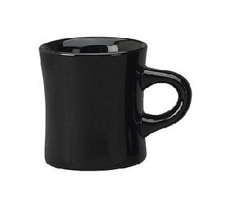 ITI 82245-05 10 oz. Black Vitrified Dinner Mug - 3 doz
