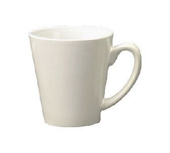 ITI 839-02 12 oz. European White Vitrified Funnel Cup - 3 doz