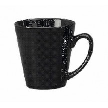 ITI 839-05 12 oz. Black Vitrified Funnel Cup - 3 doz