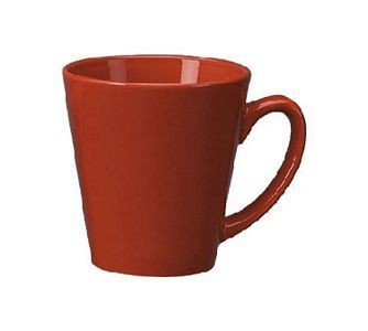 ITI 839-2194 12 oz. Red Vitrified Funnel Cup - 3 doz