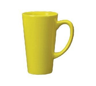 ITI 867-242 16 oz. Yellow Vitrified Funnel Cup - 2 doz