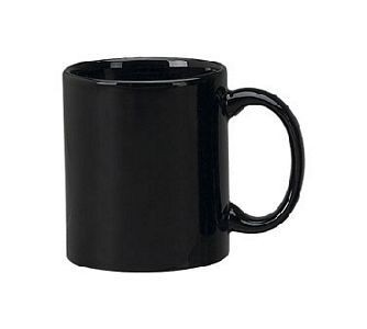 ITI 87168-05 Cancun Black C-Handle Mug 11 oz. - 3 doz