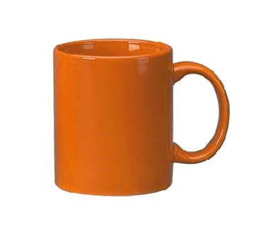 ITI 87168-210 C - 11 oz. California Orange Vitrified C - Handle Mug - 3 doz