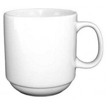 ITI 9696W 12 oz. Vitrified Stacking Mug - 3 doz