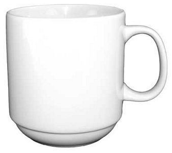 ITI 9696W Torino European White Stacking Mug 12 oz.  - 3 doz