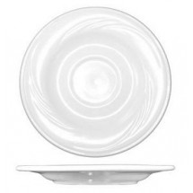 "ITI AM-2 5-3/4"" Amsterdam Embossed Saucer 36-Piece - 3 doz"
