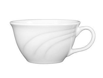 ITI AM-23 Amsterdam Embossed Porcelain Low Tea Cup 7 oz. - 1 doz