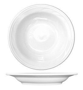 ITI AM-3 Amsterdam Embossed Porcelain Deep Rim Soup Bowl 16 oz. - 1 doz