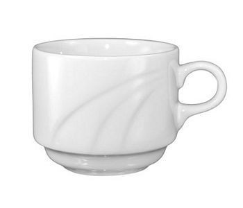 ITI AM-38 Amsterdam Embossed Porcelain Stacking Cup 9 oz. - 3 doz