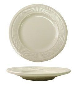 "ITI AT-6 Athena American White Embossed Plate 6-3/8"" - 3 doz"