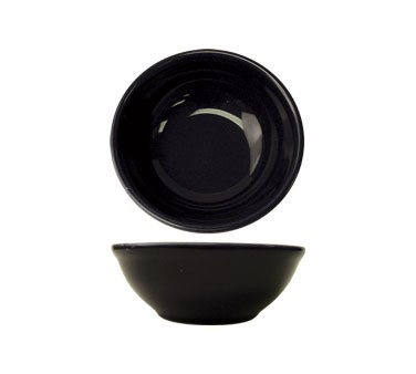 ITI CA-15 Cancun 12-1/2 oz. Black Oatmeal / Nappie Bowl - 3 doz