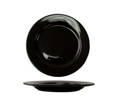 ITI CA-16-B Cancun Black Wide Rim Plate 10-1/4