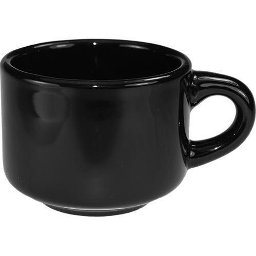 ITI CA-23 Cancun Black Stackable Cup 7 oz. - 3 doz