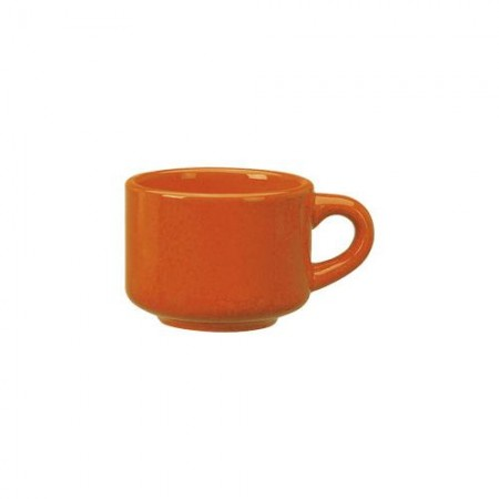 ITI CA-23-O Cancun Orange Stackable Cup 7 oz. - 3 doz