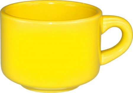 ITI CA-23-Y Cancun Yellow Stackable Cup 7 oz. - 3 doz