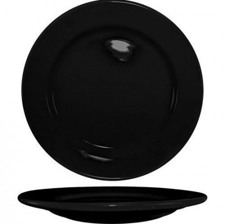 "ITI CA-6-B Cancun Black Wide Rim Plate 6-5/8"" - 3 doz"