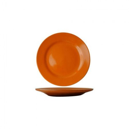 "ITI CA-7-O Cancun Orange Wide Rim Plate 7-1/8"" - 3 doz"