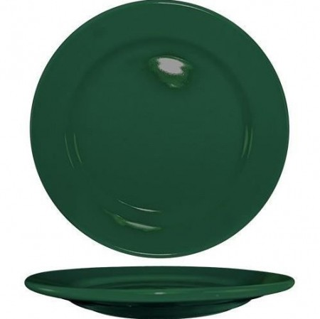 "ITI CA-8-G Cancun Green Wide Rim Plate 9"" - 2 doz"