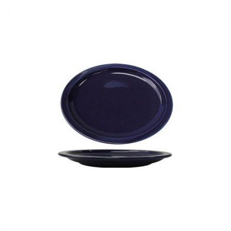 "ITI CAN-14-CB Cancun Cobalt Blue Narrow Rim Oval Platter 13-1/4"" x 10-3/8"" - 1 doz"