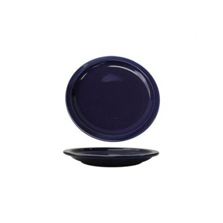 "ITI CAN-16-CB Cancun Cobalt Blue Wide Rim Plate10-1/2"" - 1 doz"