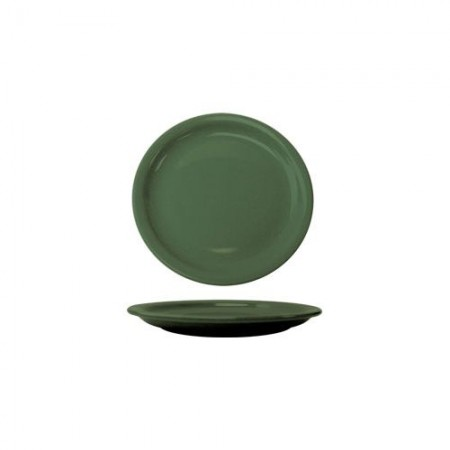 "ITI CAN-16-G Cancun Green Wide Rim Plate10-1/2"" - 1 doz"