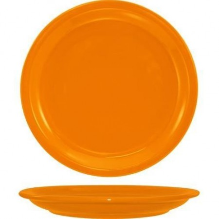 "ITI CAN-16-O Cancun Orange Wide Rim Plate 10-1/2"" - 1 doz"