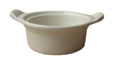 ITI CAS-5-AW American White Casserole Dish With Handles 8 oz. - 3 doz