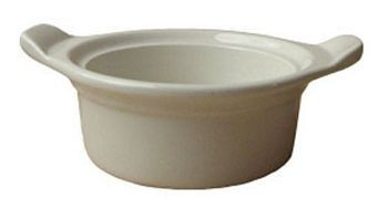 ITI CAS-6-AW 16 oz. American White Casserole Dish With Handles - 3 doz