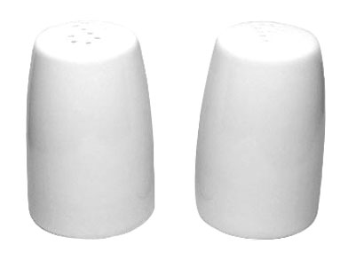"ITI CPS/P-02 European White Porcelain Salt & Pepper Shaker Set 3-1/2"" - 30 pcs"