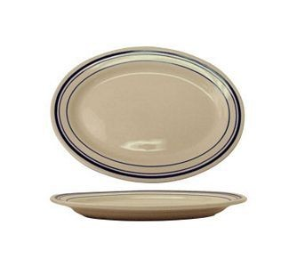 ITI CT-34 Catania Blue Band Platter 9-3/8