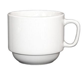 ITI DO-23 Dover 7 oz. Porcelain Stackable Cup - 3 doz
