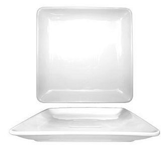 ITI DO-314 Dover Porcelain Square Plate 14""