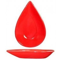 ITI FAW-55-CR 3-1/2 oz. Crimson Red Tear Drop Fruit Bowl - 4 doz