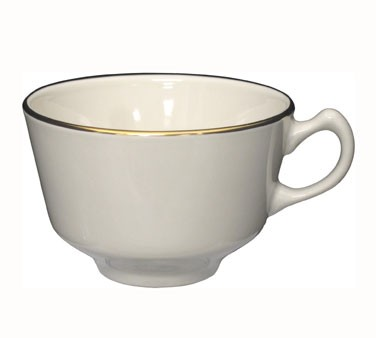 IITI FL-1 7 oz. Florentine Cup with Gold Band - 3 doz