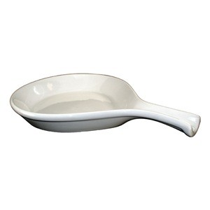 ITI FPS-12-AW 12 oz. American White Ceramic Serving Skillet - 1 doz