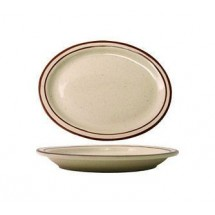 ITI GR-13 Granada Brown Speckled Platter - 1 doz