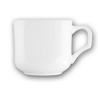 ITI HE-1 Helios 7.5 oz. Square Bone China Cup - 3 doz