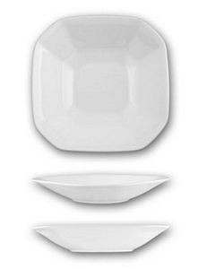 ITI HE-11 Helios 5.5 oz. Square Bone China Fruit Bowl - 3 doz