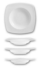 ITI IS-3 Isis 13 oz. Square Bone China Soup Bowl - 1 doz