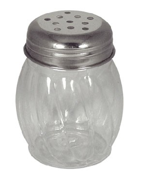 ITI ISP-I-E 6 oz. Cheese Shaker Perforated Top With plastic base - 1 doz