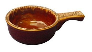 ITI OSC-15-H 12 oz. Caramel Beige Onion Soup Crock With Handle - 2 doz