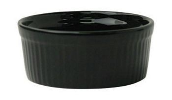ITI RAMF-10-B 8 oz. Cancun Black Fluted Ramekin - 3 doz