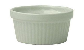 ITI RAMF-10-EW 8 oz. European White Fluted Ramekin - 3 doz