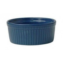 ITI RAMF-10-LB 8 oz. Cancun Light Blue Fluted Ramekin - 3 doz