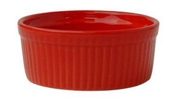 ITI RAMF-10-R 8 oz. Red Fluted Ramekin - 3 doz