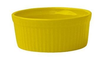 ITI RAMF-10-Y 8 oz. Yellow Fluted Ramekin - 3 doz