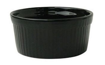ITI RAMF-2-B 2 oz. Fluted Black Ramekin - 3 doz