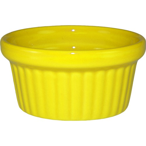 ITI RAMF-2-Y 2 oz. Cancun Yellow Fluted Ramekin - 3 doz